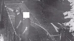 A man wanted in connection with racist abuse in Plymouth
