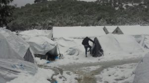 Camps in Greece in January 2017 (Picture credit: Giorgos Kosmopoulos @GiorgosKosmop)