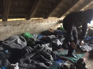 Beds in migrant camp © S.Nandzik