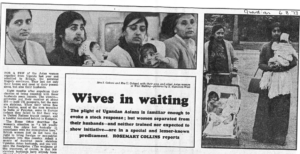 Wives in Waiting article The Guardian 6.8.73