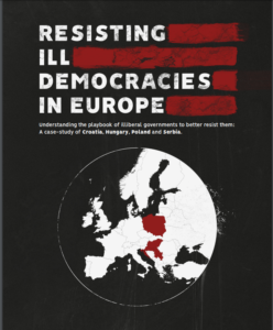 Cover of Resisting Ill Democracies in Europe by Human Rights House Network