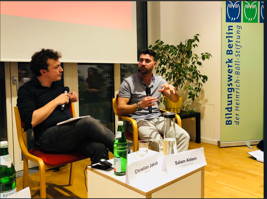 Salam and Christian at ConAction meeting in Berlin. Credit: Jamila Schafer @jamila_anna