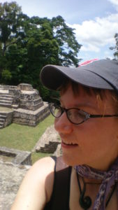 Donna at Belize Maya Temple