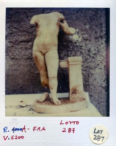 Photo Siezed in the Medici Raid of Object that eventually was offered at Sotheby's in 1986