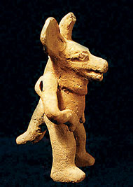 A figurine from the Cara Sucia region that is in the National Museum of El Salvador