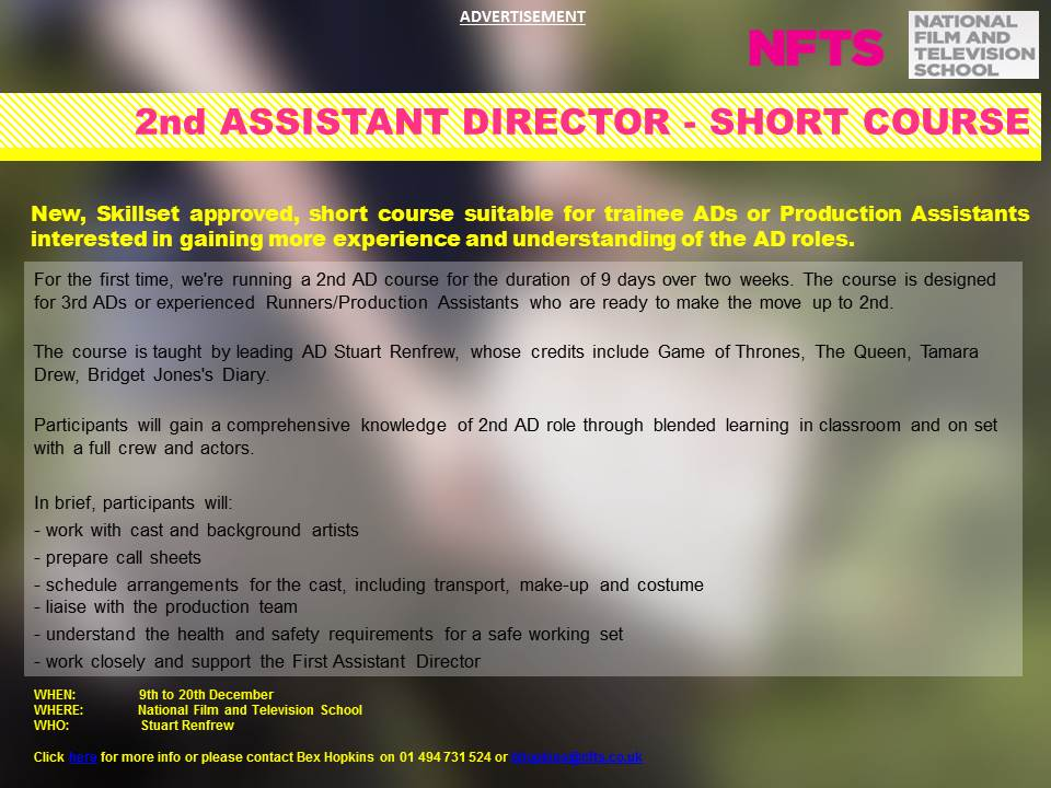 NFTS SHORT COURSE_2nd AD