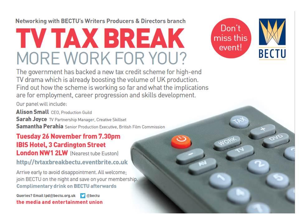 BECTU_Tax Break _Nov 2013
