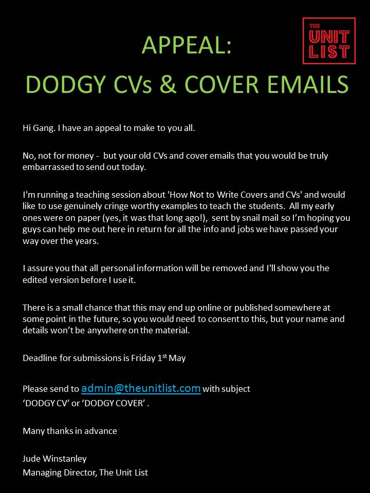 0Appeal for dodgy CVs and covers