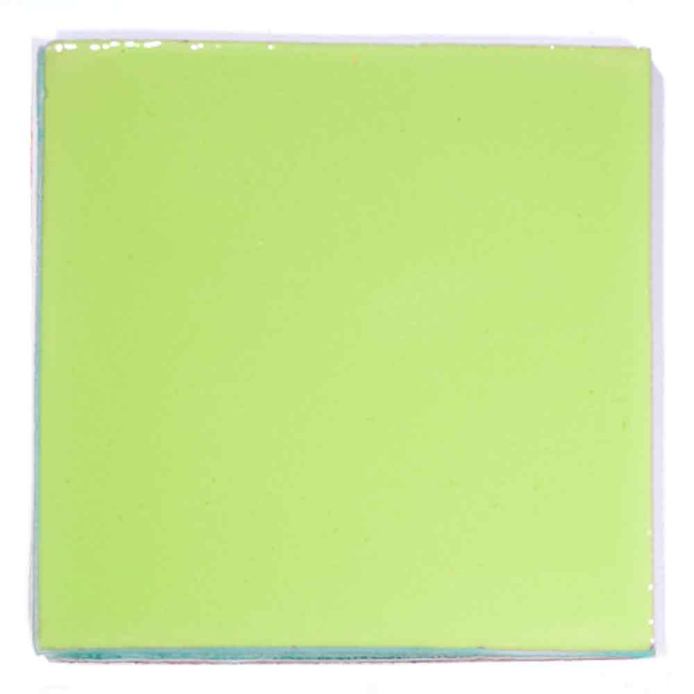 lime green bright hand made tiles