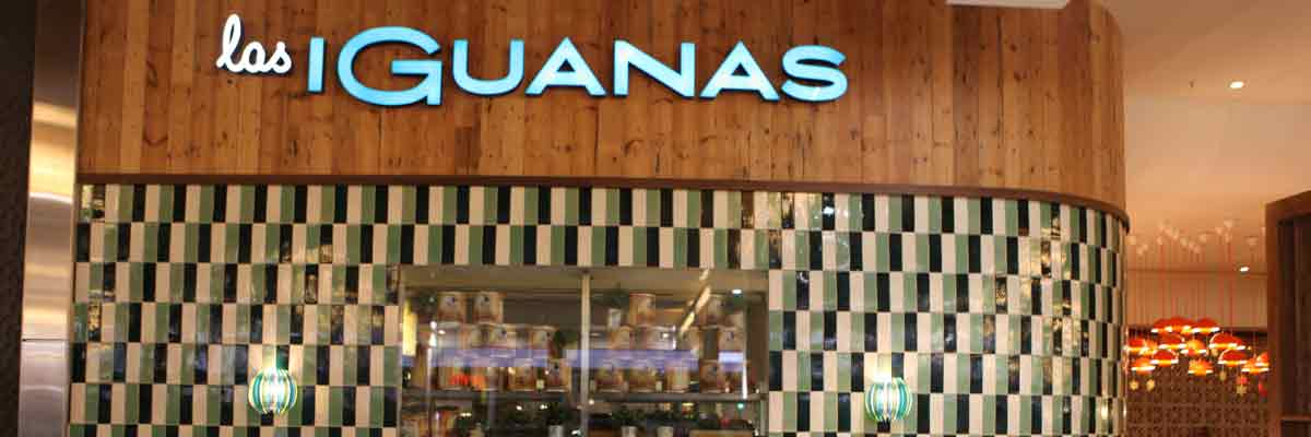 Las Iguanas hand made brick shaped tiles.