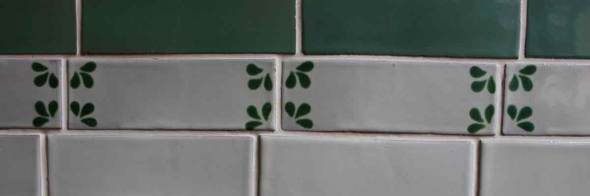 Metro brick shaped tiles hand made in mexico.