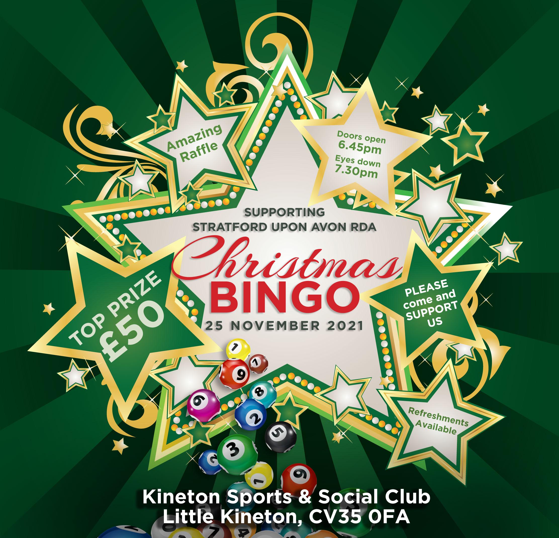 RDA Stratford Christmas Bingo