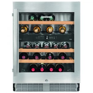 Liebherr UWTES1672 60cm Integrated Built Under Dual Zone Wine Cooler - STAINLESS STEEL
