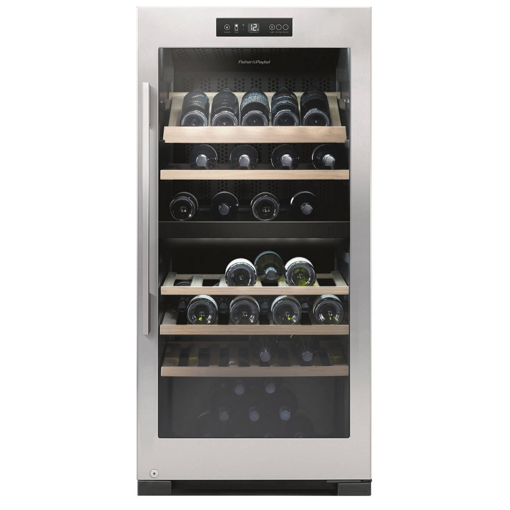 Fisher Paykel Rf206rdwx1 60cm Freestanding Dual Zone Wine Cooler