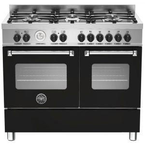 Bertazzoni MAS100-6-MFE-D-NEE 100cm Master Dual Fuel Range Cooker – BLACK