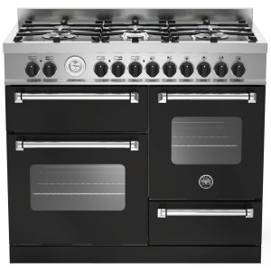 Bertazzoni MAS100-6-MFE-T-NEE 100cm Master XG Dual Fuel Range Cooker – BLACK