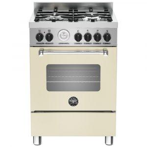 Bertazzoni MAS60-4-MFE-S-CRE 60cm Master Dual Fuel Cooker – CREAM
