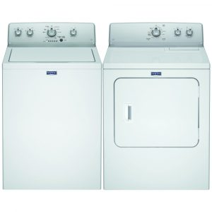 Maytag 3LMVWC315FW 3LMEDC315FW Top Loading Washing Machine and Dryer Pack – WHITE