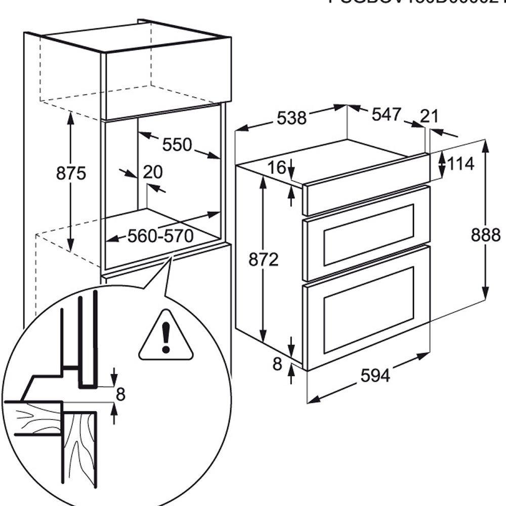 Aeg Deb331010m Built In Multifunction Double Oven