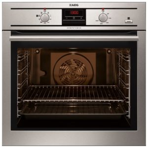 AEG BE300360KM Built In SteamBake Single Multifunction Oven - STAINLESS STEEL
