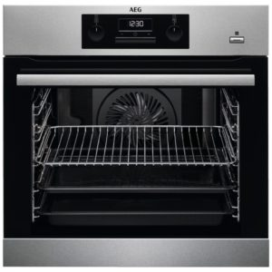 AEG BES351010M Built In SteamBake Single Multifunction Oven - STAINLESS STEEL