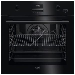 AEG BPE552220B Built In Pyrolytic SteamBake Multifunction Single Oven – BLACK