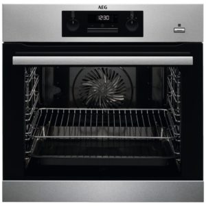 AEG BPS351220M Built In Pyrolytic SteamBake Multifunction Single Oven – STAINLESS STEEL