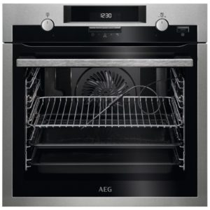 AEG BPS552020M Built In Pyrolytic SteamBake Multifunction Single Oven – STAINLESS STEEL