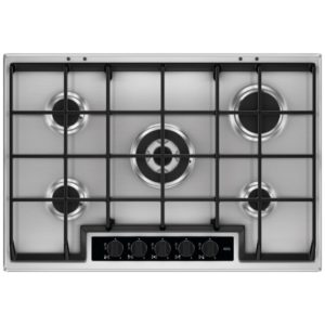 Caple C944G 75cm 5 Burner Gas On Glass Hob – BLACK