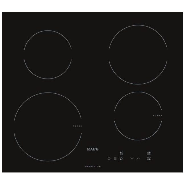 Aeg Hk604200ib 60cm 4 Zone Induction Hob 13 Amp