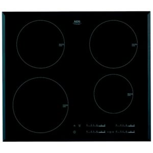 AEG HK654200FB 60cm 4 Zone Bevelled Edge Induction Hob - BLACK