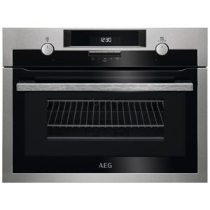 AEG KME561000M 60cm Built In Combi Microwave For Tall Housing - STAINLESS STEEL