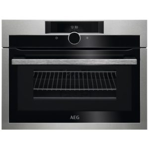 AEG KME861000M 60cm Built In Combi Microwave For Tall Housing - STAINLESS STEEL
