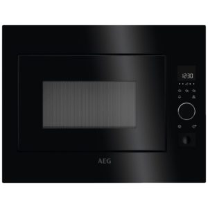 AEG MBE2658S-B 60cm Built In Microwave For Tall Housing – BLACK