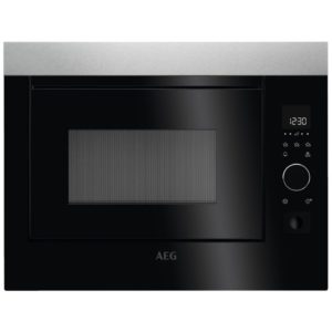 AEG MBE2658S-M 60cm Built In Microwave For Tall Housing - STAINLESS STEEL
