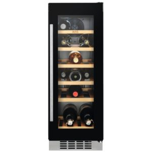 AEG SWE63001DG 30cm Integrated Undercounter Wine Cooler - BLACK