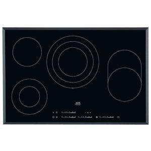 AEG HK854080FB 78cm 4 Zone Bevelled Edge Ceramic Hob - BLACK