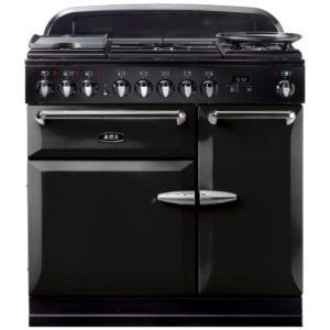 AGA Masterchef MENMSFBLK 90cm Dual Fuel Range Cooker – BLACK