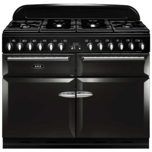 AGA Masterchef MENXSFBLK 110cm Dual Fuel Range Cooker – BLACK