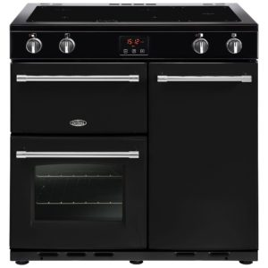Belling FARMHOUSE 90EIBLK 4130 90cm Induction Range Cooker - BLACK