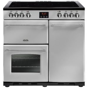 Belling FARMHOUSE 90ESIL 4125 90cm Ceramic Range Cooker – SILVER