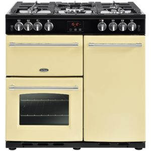 Rangemaster KCH100NGFBL/C Kitchener 100cm Gas Range Cooker 111940 – BLACK