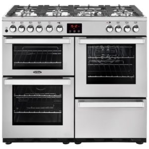 Belling COOKCENTRE 100DFTPROFSTA 4081 100cm Dual Fuel Range Cooker – STAINLESS STEEL