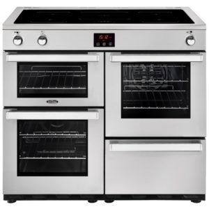 Belling COOKCENTRE 100EIPROFSTA 4090 100cm Induction Range Cooker - STAINLESS STEEL