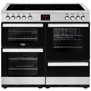 Belling COOKCENTRE 100ESTA 4085 100cm Ceramic Range Cooker – STAINLESS STEEL