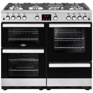 Belling COOKCENTRE 100GSTA 4088 100cm Gas Range Cooker – STAINLESS STEEL