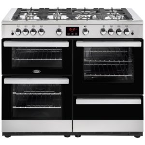 Belling COOKCENTRE 110GSTA 4100 110cm Gas Range Cooker - STAINLESS STEEL