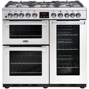 Belling COOKCENTRE DX 90DFTPROFSTA 4107 90cm Dual Fuel Range Cooker - STAINLESS STEEL