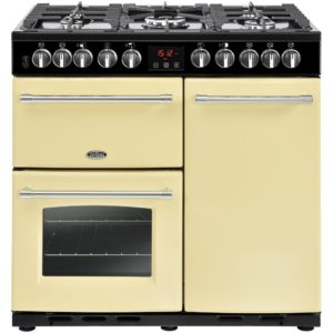 Belling FARMHOUSE DX 90DFTCRM 4159 90cm Dual Fuel Range Cooker – CREAM