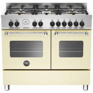 Bertazzoni MAS100-6-MFE-D-CRE 100cm Master Dual Fuel Range Cooker – CREAM